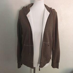 J. Crew Brown Vintage Fleece Hoodie